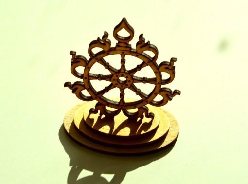Sudarshana Chakra wooden statue 6