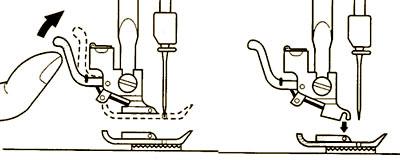 Замена лапки швейной машины