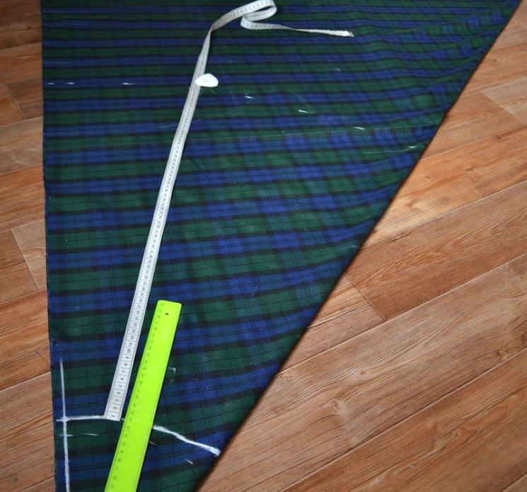 Расчет длины юбки полусолнце