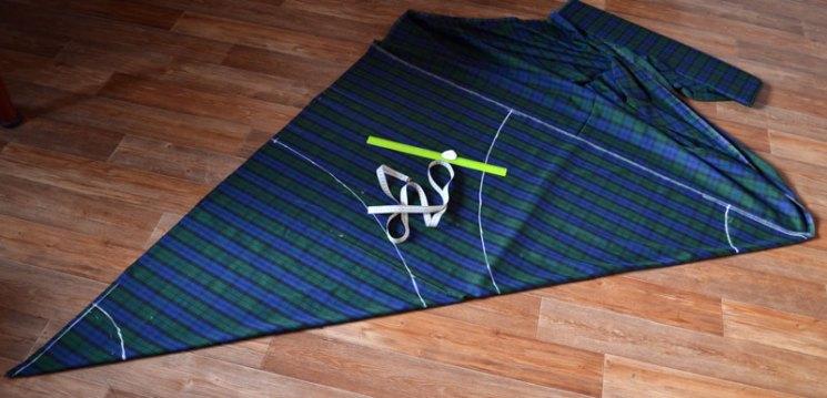 Выкройка юбки-полусолнце