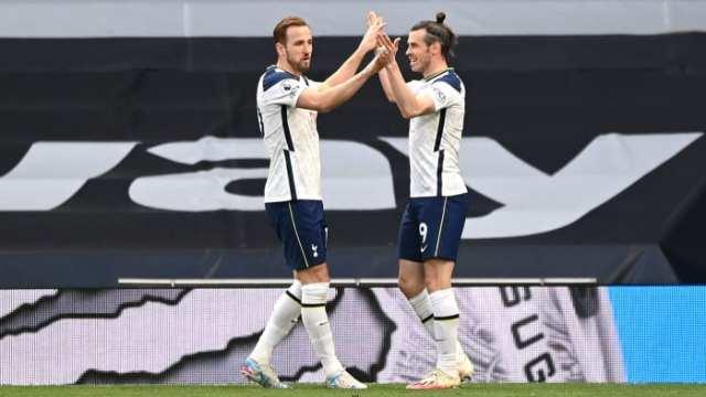 Tottenham's Harry Kane and Gareth Bale