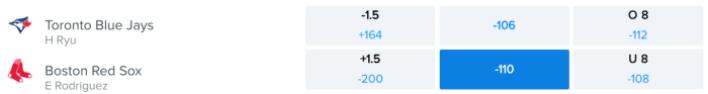 Betting Odds via FanDuel Sportsbook – Game Time 7:10 p.m. ET