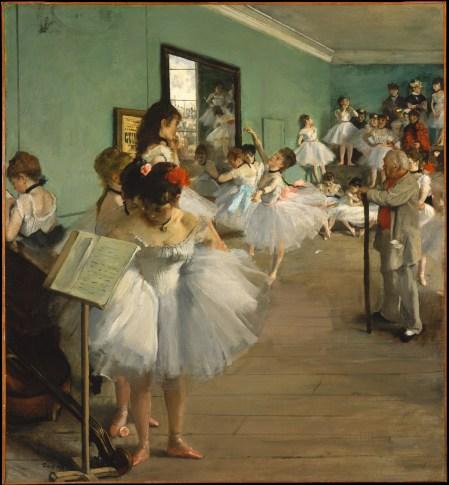 Degas peinture de jeunes ballerines pratiquant le ballet