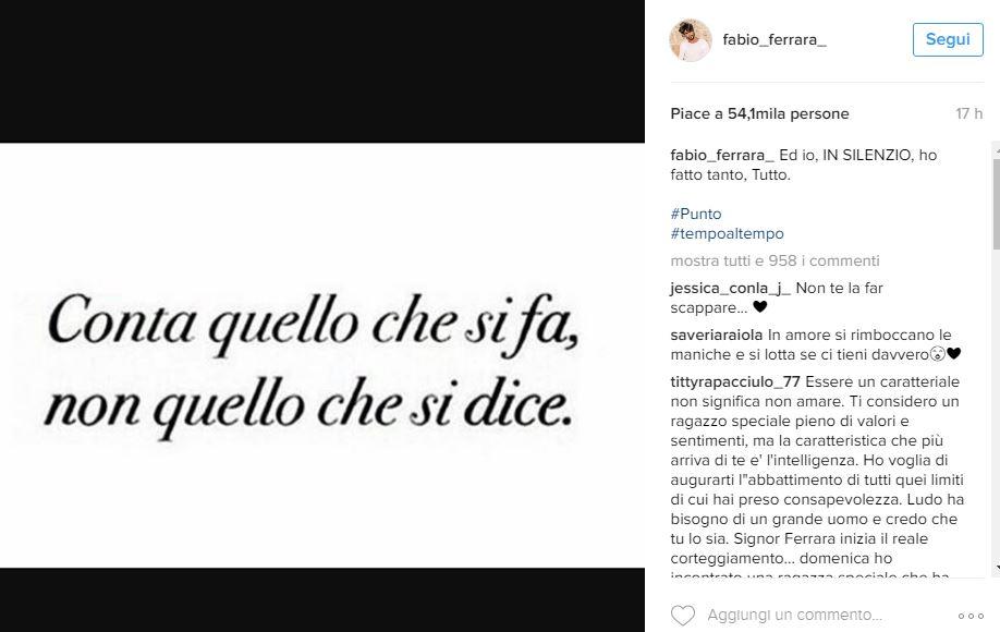 Gossip Fabio Ferrara Lancia Una Frecciatina A Ludovica