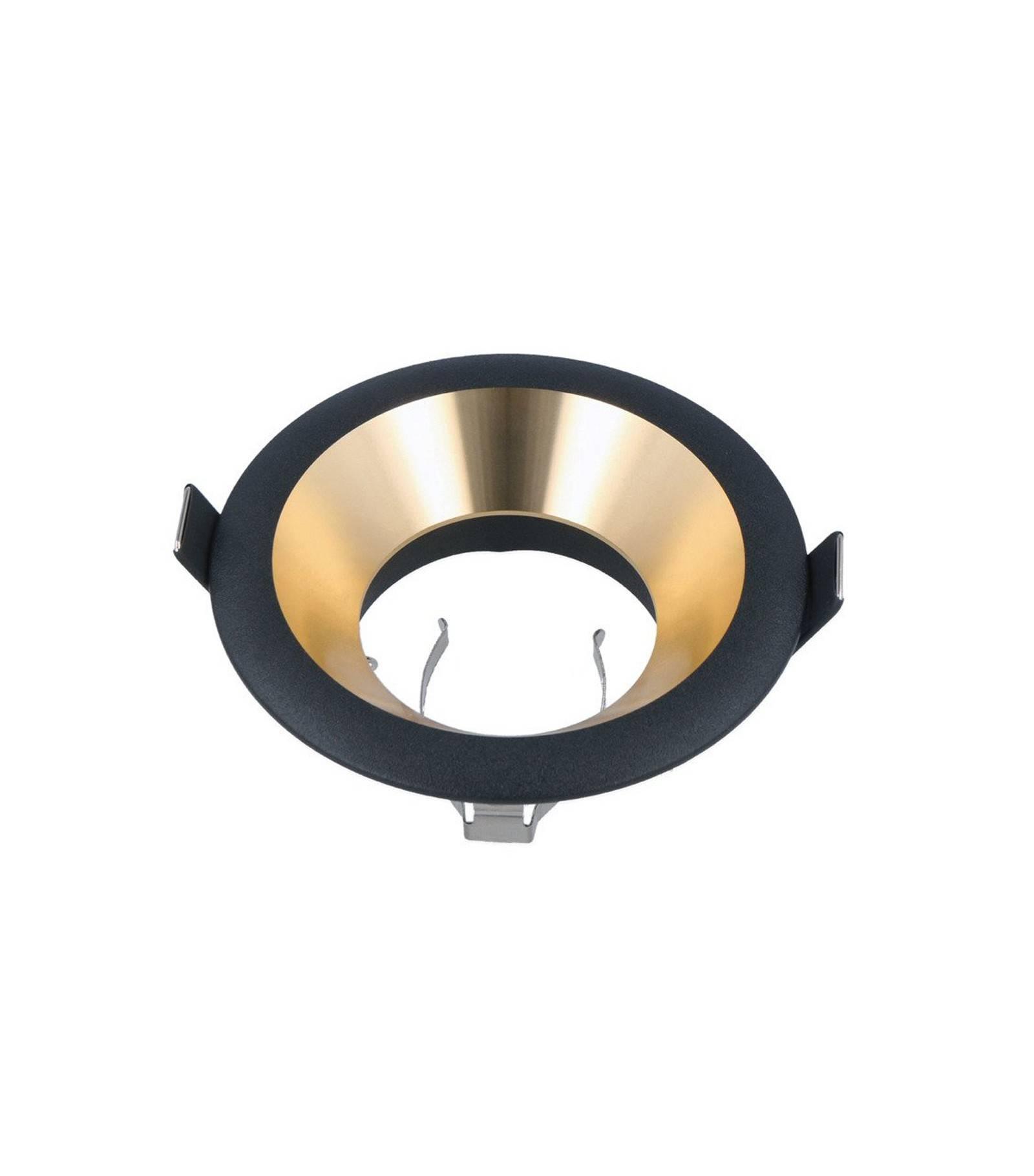 spot encastrable otlika fixe aluminium noir et or sable ledline 241321