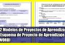 02 Modelos de Proyectos de Aprendizaje y Esquema de Proyecto de Aprendizaje. [WORD]