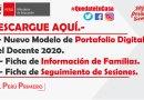 APRENDO EN CASA.- Nuevo Modelo de Portafolio Digital del Docente 2020 + Ficha de Información de Familias y Fichas de Seguimiento de Sesiones.