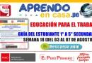 EPT: GUÍA DEL ESTUDIANTE -SEMANA 18 DE 1° A 5° DE SECUNDARIA[DEL 03 AL 07 DE AGOSTO]