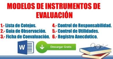 ✔✔Modelos de Instrumentos de Evaluación – LISTA DE COTEJOS, GUÍA DE OBSERVACIÓN, FICHA DE COEVALUACIÓN, CONTROL DE RESPONSABILIDADES, CONTROL DE ÚTILES Y REGISTRO ANECDÓTICO