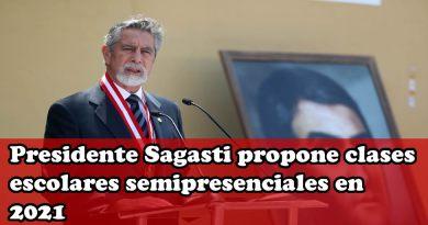 Presidente Sagasti propone clases escolares semipresenciales en 2021