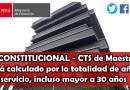 TC Declara inconstitucional los Artículos 35, inciso A), y 63 (CTS) de la Ley N° 29944 – Ley de la Reforma Magisterial