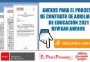 Auxiliares de Educación.-ANEXOS PARA EL PROCESO DE CONTRATO DE AUXILIARES DE EDUCACIÓN 2021[REVISAR ANEXOS AQUÍ]