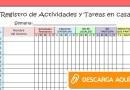 FABULOSO REGISTRO DE ACTIVIDADES Y TAREAS DE APRENDO EN CASA [Descarga aquí]