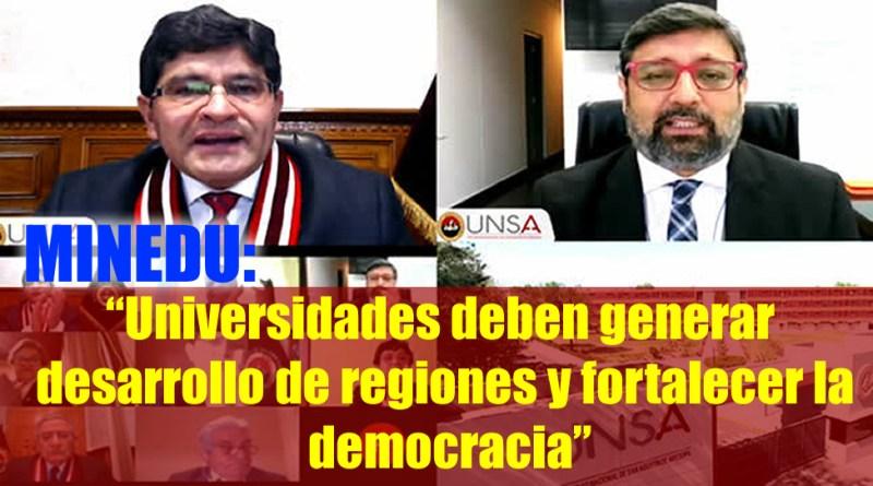 """Ministro Cuenca: """"Universidades deben generar desarrollo de regiones y fortalecer la democracia""""[ Mas información aquí ]"""