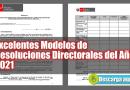 Excelentes Modelos de Resoluciones Directorales del Año 2021 [Descarga Aquí]