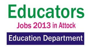 Punjab Educators Jobs 2013-2014 in Attock