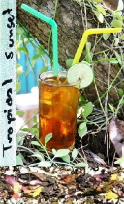 Green and black tea blend with Thai fruit such as Mango, Passion Fruit, Papayai