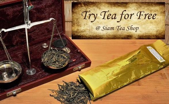 Try Tea for Free: free tea samples at Siam Tea Shop
