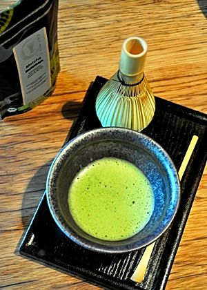 Japanese Kabuse Matcha Tea served