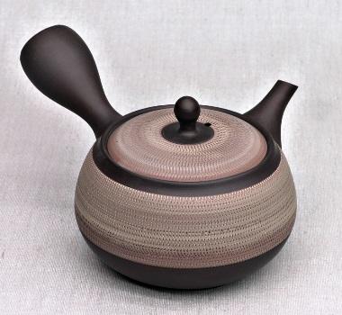 Kyusu Teapot, umber, 360ml, clay, handmade