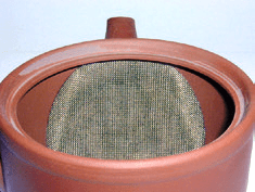 Japanese teapot strainer type, metal, integrated