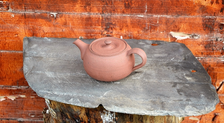 SiamTeas Signature Yixing Teekanne, 200ml, red clay, unglazed, 100% handmade according to SiamTeas specifications