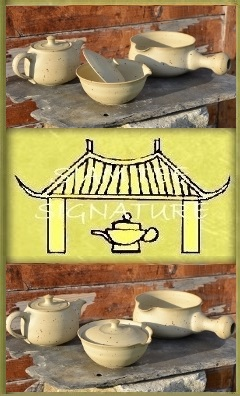 SiamTeas Signature Tea Pottery Ensemble : teapot, shiboridashi, yuzamashi
