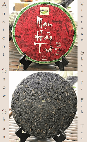 Ripened pu erh tea from ancient tea trees in Vietnam's northermost province, Ha Giang - picking standard 1+2