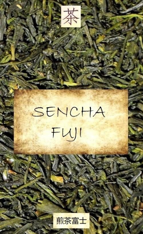 Sencha Fuji - unshaded Japanese Sencha tea of the spring picking at Mount Fuji, Shizuoka, Japan
