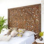 Super King Sized Carved Headboard Cottage Decor Siam Sawadee