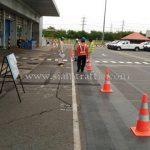 การเตรียมตัวก่อนเข้าทำงานติดตั้งอุปกรณ์จราจร Toyota Motor Thailand Co., Ltd. บ้านโพธิ์