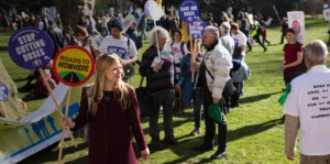 Sian Berry at the climate march - by Joseph Gordon
