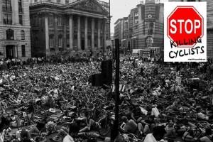 Stop Killing Cyclists demo at Bank