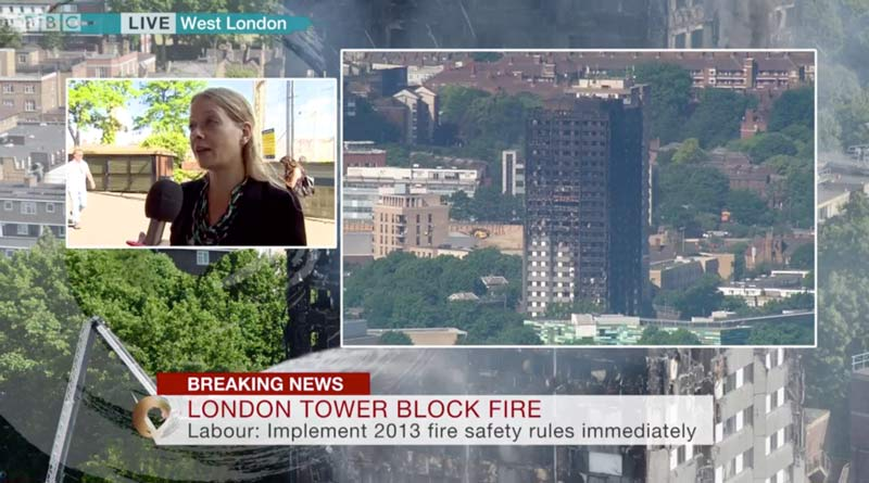Speaking to the BBC about the horrific events at Grenfell Tower