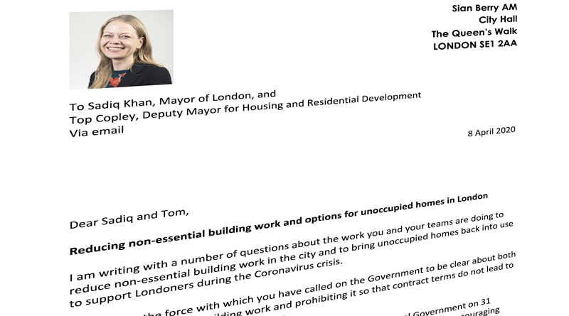Letter to the Mayor 8 April 2020