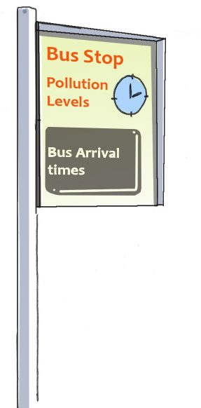 Information on new bus stops  Image by One World Design Architects for London Green Party CC-BY