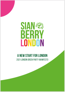 Sian Berry London - A new start for London - Manifesto cover image