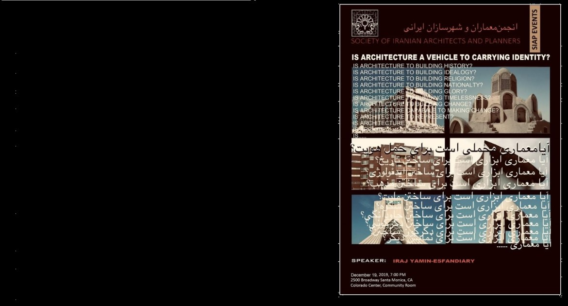 IS ARCHITECTURE A VEHICLE TO CARRY IDENTITY?