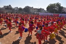 Princess Esin Girl's High School conducted its Annual Sports Day at Quli Qutub Shah Stadium where girl students can be seen participating in the event. Mrs. Humers Hyder, principal Springfields International School and Mr. Minhaj Arastu, principal, Focus High school were the chief guest and guest of honour respectively.Photo:Laeeq