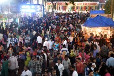 People thronged to 79th All India Industrial Exhibition. Due to the metro link with far-off places, the crowd is increasing with every passing day.Photo:Laeeq