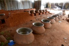 The big utensils (deg) for preparation of special dish of Ramzan Haleem are set as theholy month is likely to begin from :Photo:Laeeq