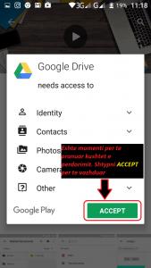 Programe per telefona Android. Si te instaloj Google Drive ne telefon. Tutoriale shqip. 3