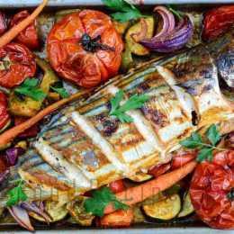 Peshk me perime dhe patate ne furre. Receta gatimi te shijshme.