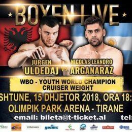 Boksieri shqiptar Jurgen Uldedaj synon titullin per kampion bote WBO Junior.