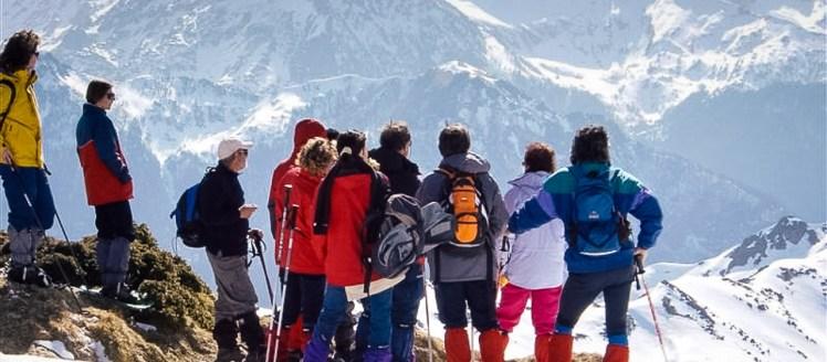 Raquette à neige Ariège groupe Mont Ceins