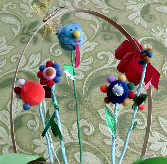 craft flowers in a basket