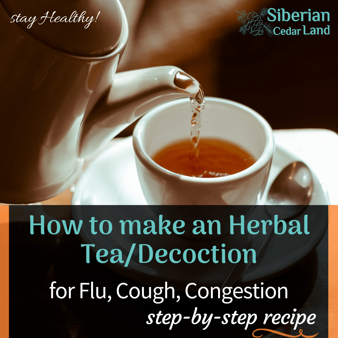 Herbal Tea Decoction For Flu Persistent Cough And
