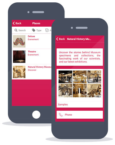Siberian CMS App Maker's Places feature