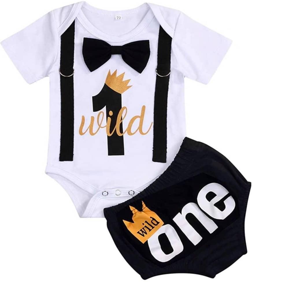 Sibia Palace Baby Boy Wild One 1st Birthday Outfit One Cake Smash Set