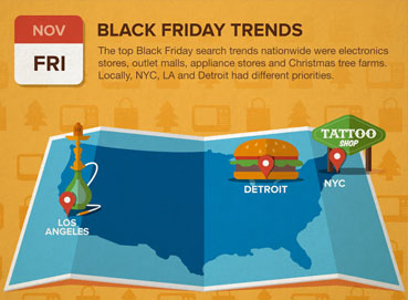 Google Maps helps Thanksgiving Friday